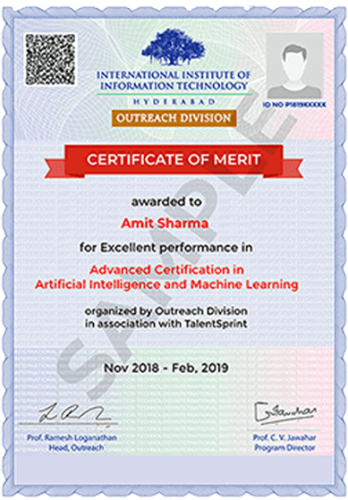 AI/ML Program for Professionals by IIIT-H Machine Learning