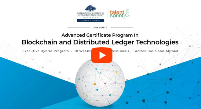 Advanced Certification Program in Blockchain and DLT by IIIT